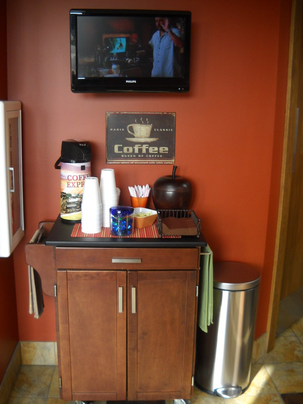 waiting area coffee maker